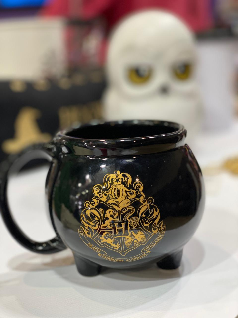 Caneca 3D Caldeirão Hogwarts: Harry Potter - (500ML)