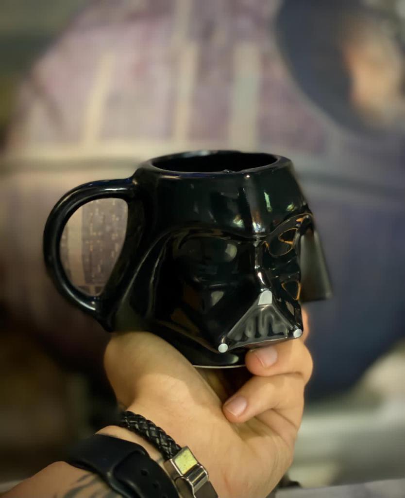 Caneca 3D Capacete Darth Vader: Star Wars