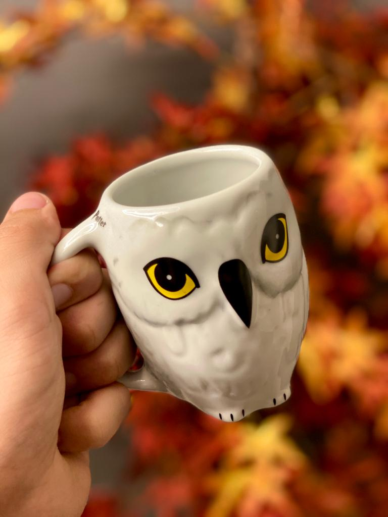 Caneca 3D: Edwinges ( Hedwing ) Harry Potter - 250ml