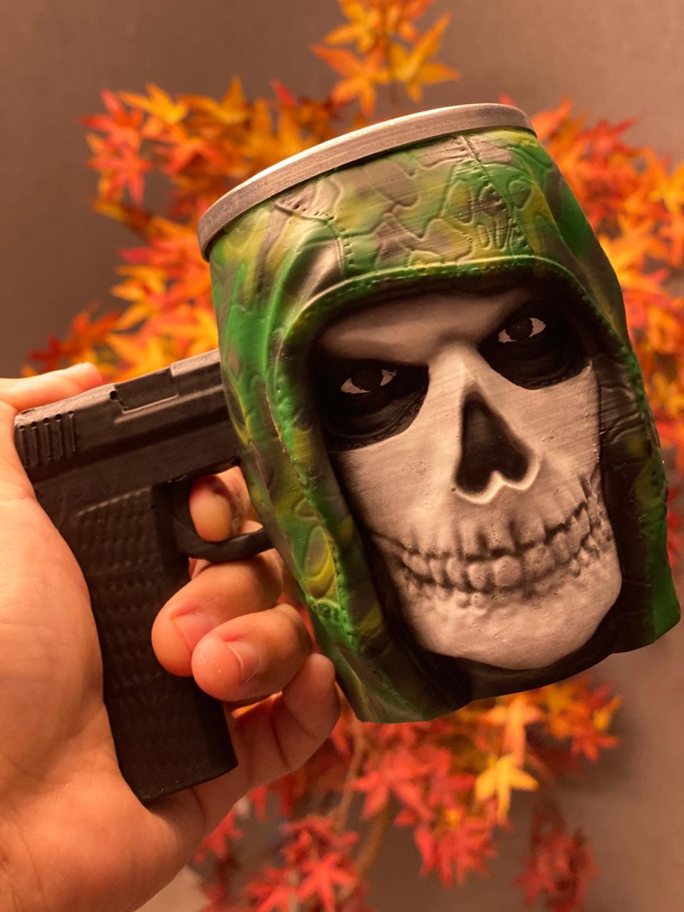 Caneca 3D Esqueleto de Guerra
