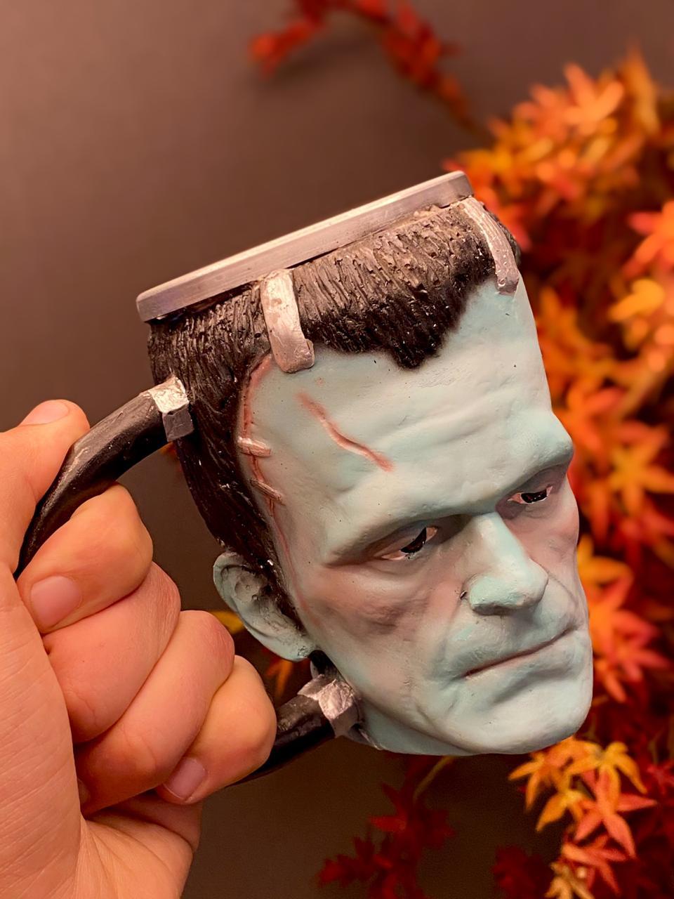 Caneca 3D Frankenstein (Verde) (300ml)