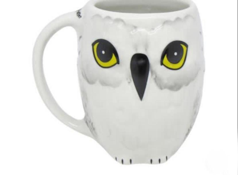 Caneca 3D Geek Coruja Edwiges Hedwig Harry Potter Bruxo 250ml