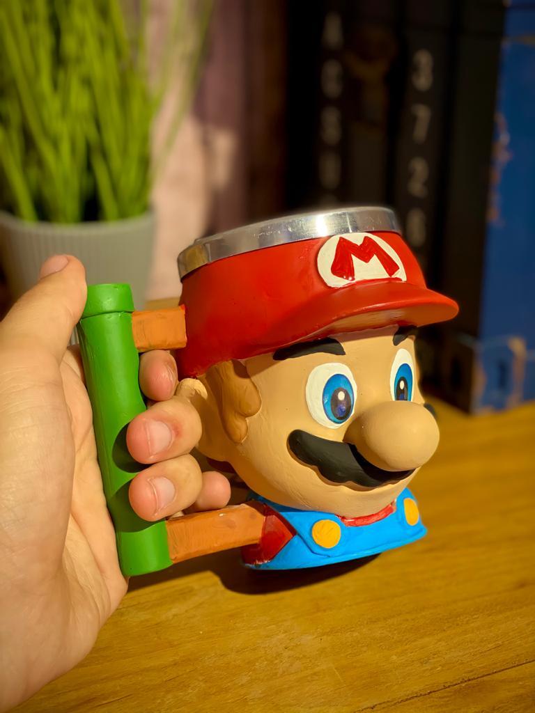 Caneca 3D Geek Mario: Mario Bros.