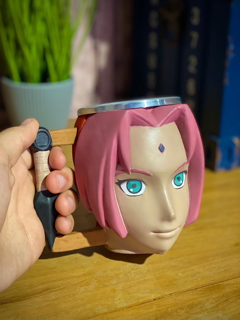 Caneca 3D Geek Sakura: Naruto