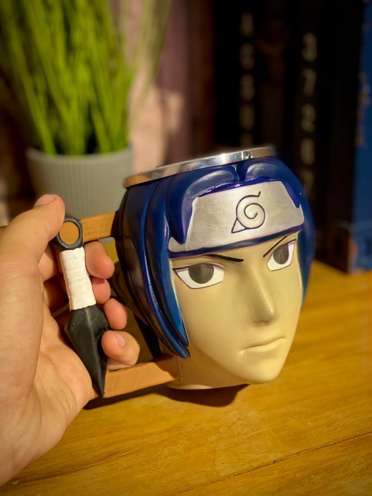 Caneca 3D Geek Sasuke: Naruto