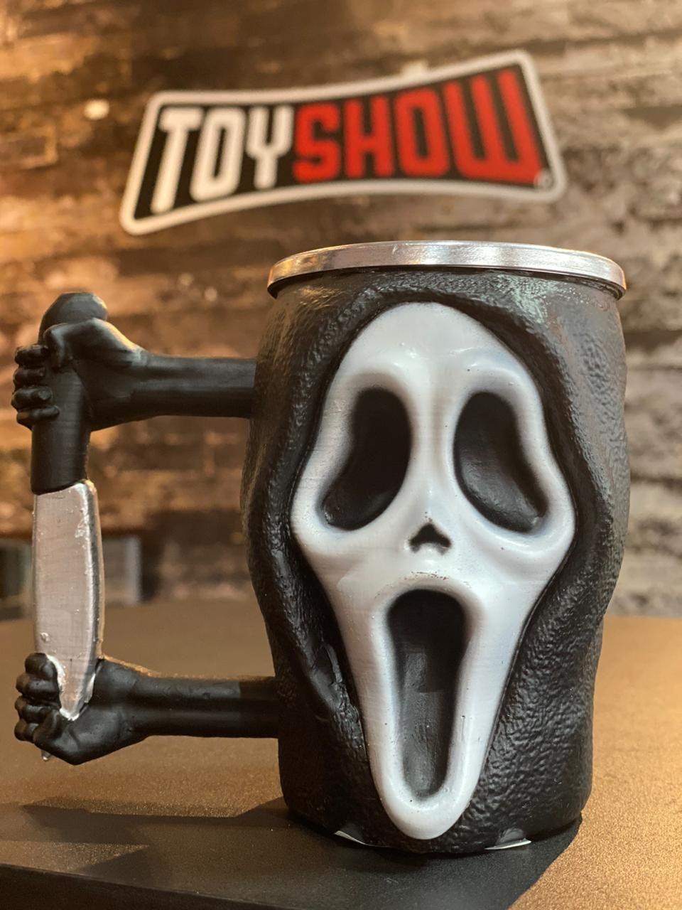 Caneca 3D Ghostface: Pânico (Scream) - EV