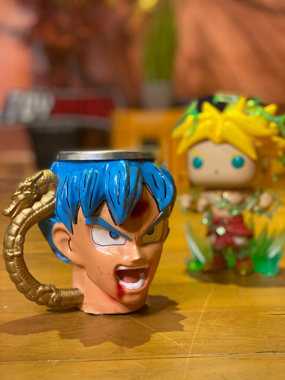 Caneca 3D Goku Blue: Dragon Ball