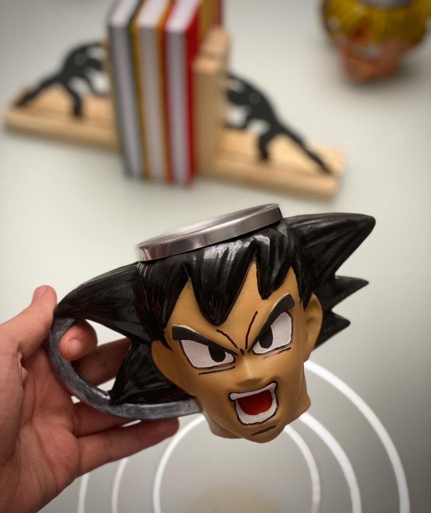 Caneca 3D Goku Com Raiva: Dragon Ball