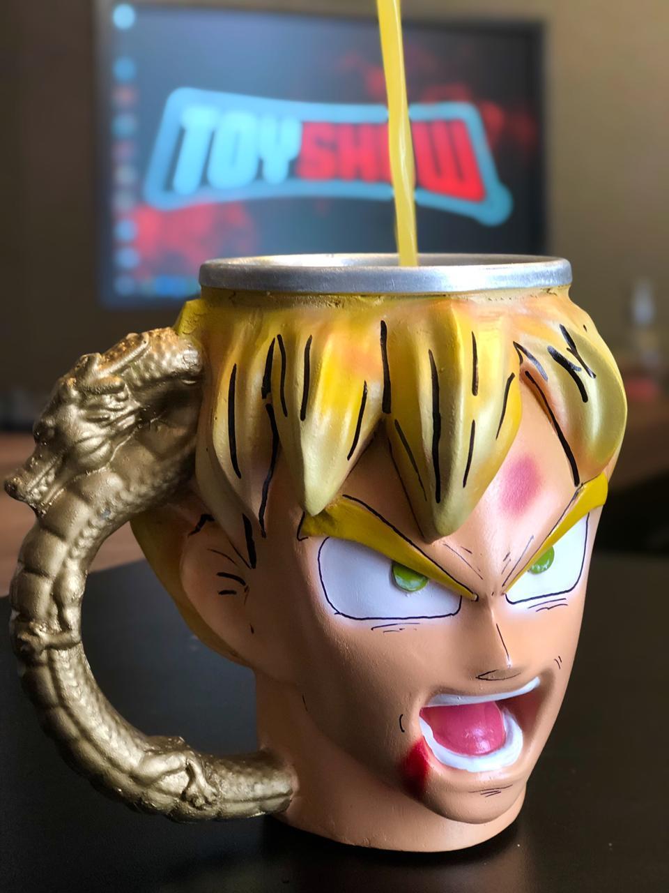 """Caneca 3D Goku """"Super Sayajin"""" : Dragon Ball Z"""