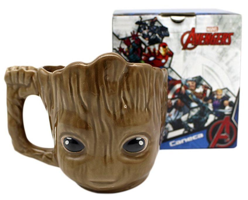Caneca 3D Groot: Guardiões da Galáxia Vol. 2 - (350ML)