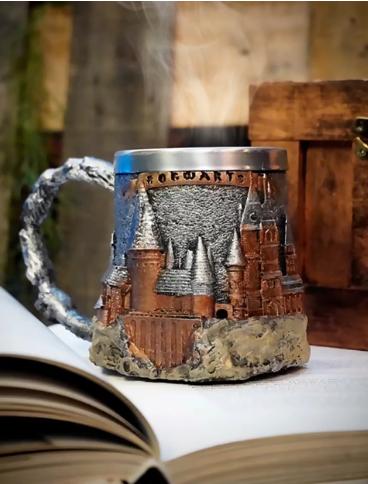 Caneca 3D Hogwarts Escola de Bruxos Harry Potter 400 ml - EV