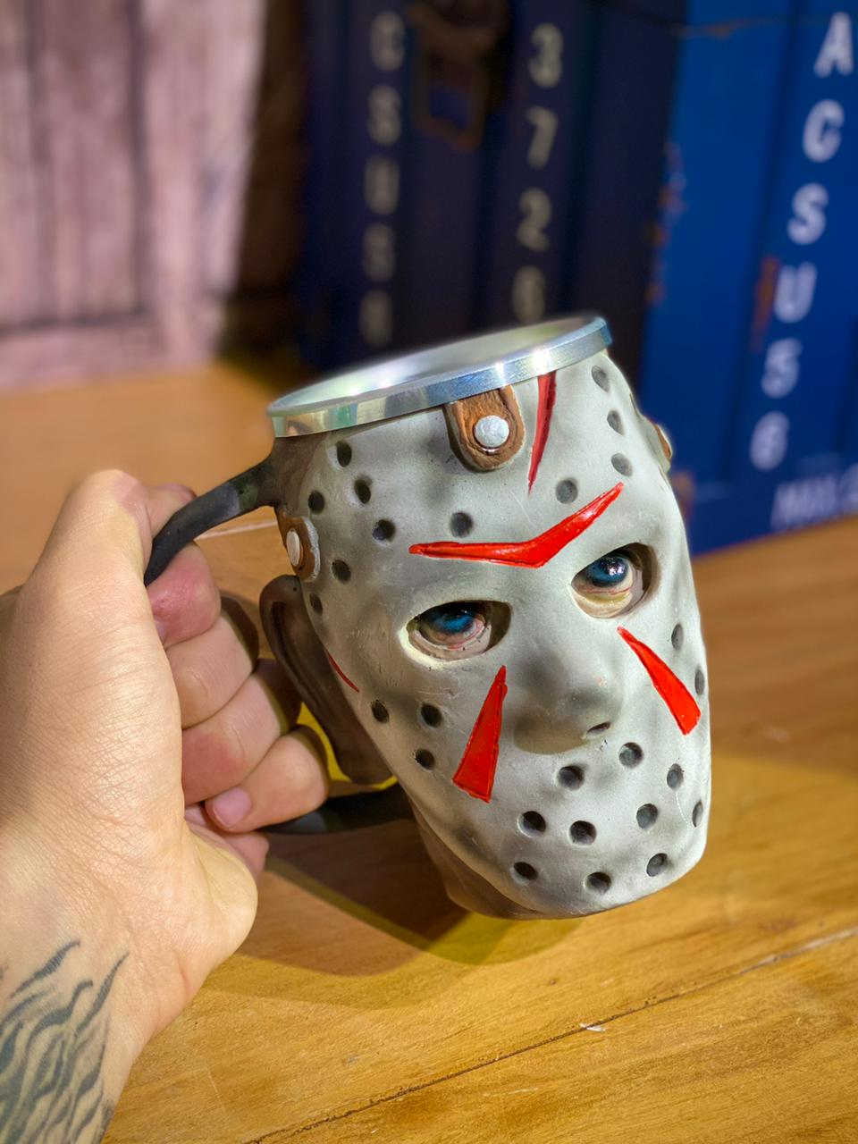 Caneca 3D Jason Voorhees: Sexta-Feira13 (‎Friday the 13th‎) (300ml) (Jason 3) - EV