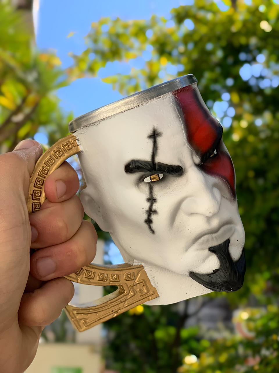 Caneca 3D Kratos: God of War