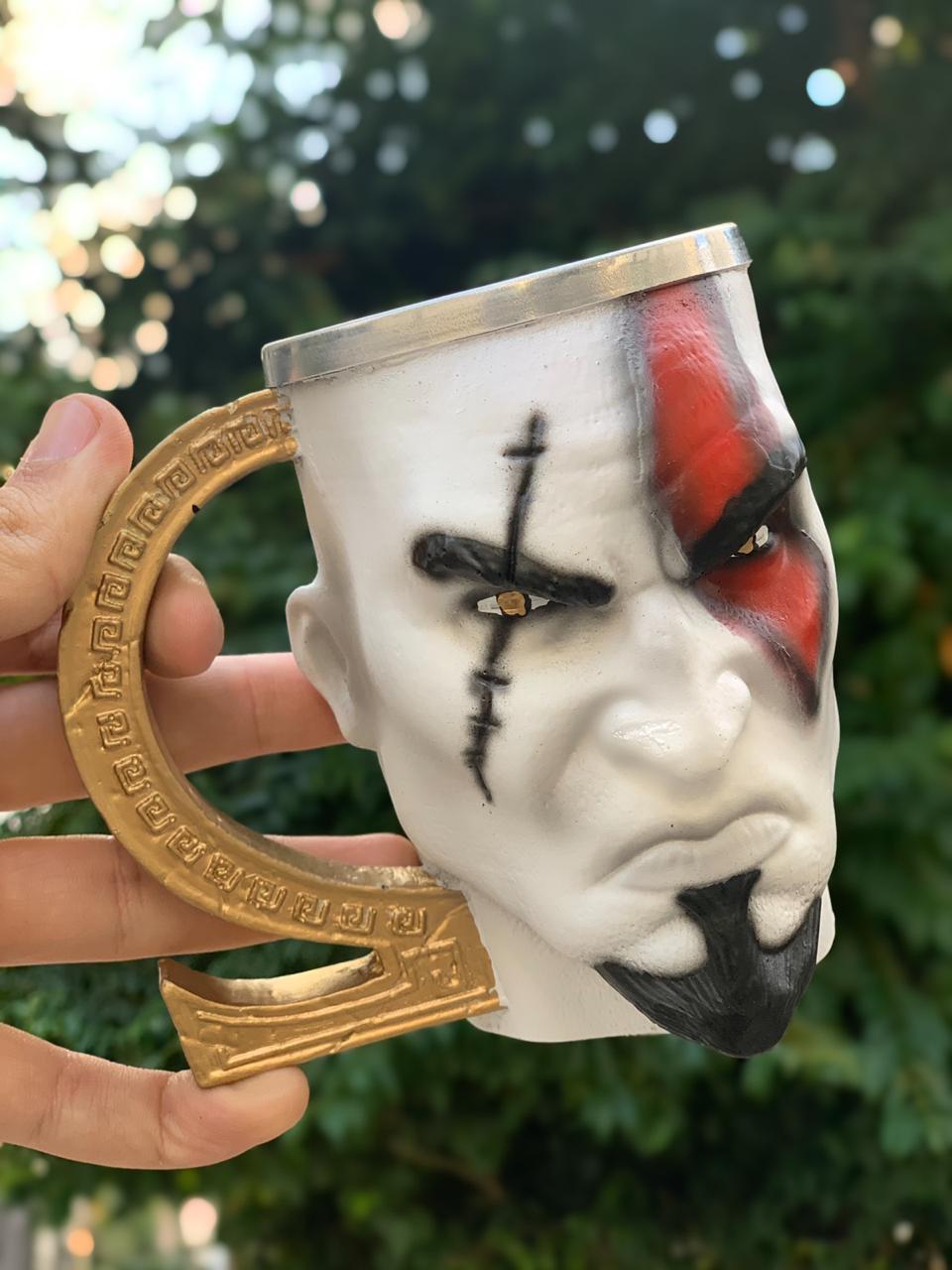 Caneca 3D Kratos: God of War