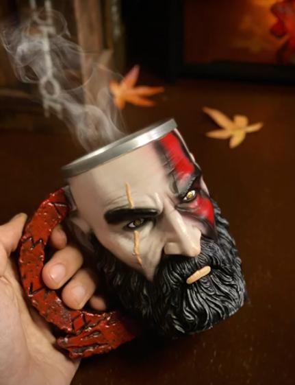 Caneca 3D Kratos: God of War Ragnarok Playstation - EV