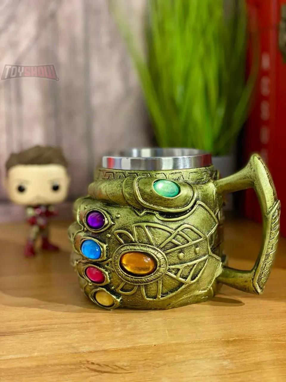 Caneca 3D Manopla do Infinito (Infinity Gauntlet): Vingadores Guerra Infinita (Avengers Infinity War)