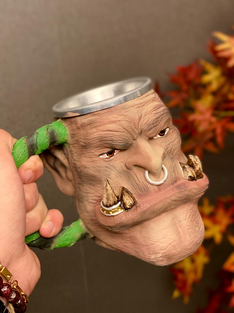 Caneca 3D Orc: World Of Warcraft (300ml)