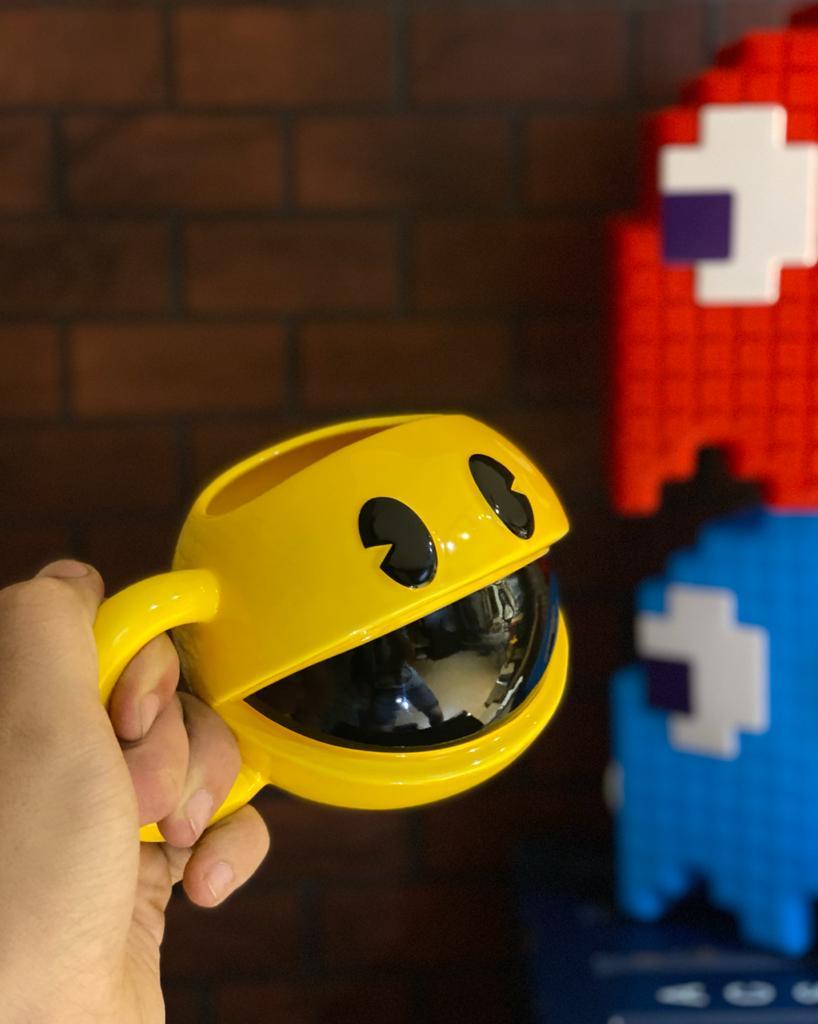 Caneca 3D Pac-Man Atari - EV
