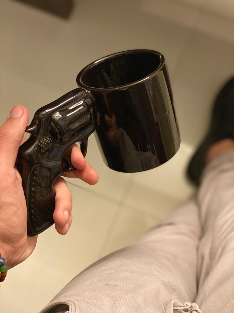 Caneca 3D Pistola (Arma 38)