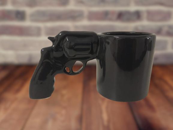 Caneca 3D Pistola (Arma 38 Chumbo)