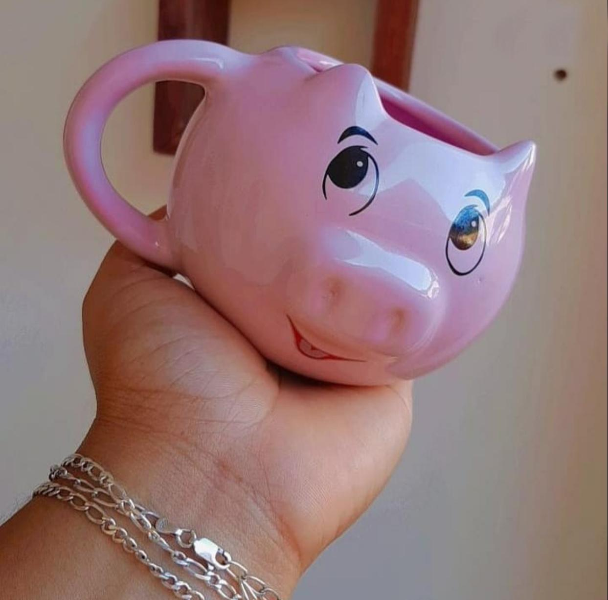Caneca 3D Porco Porquinho Rosa - EV