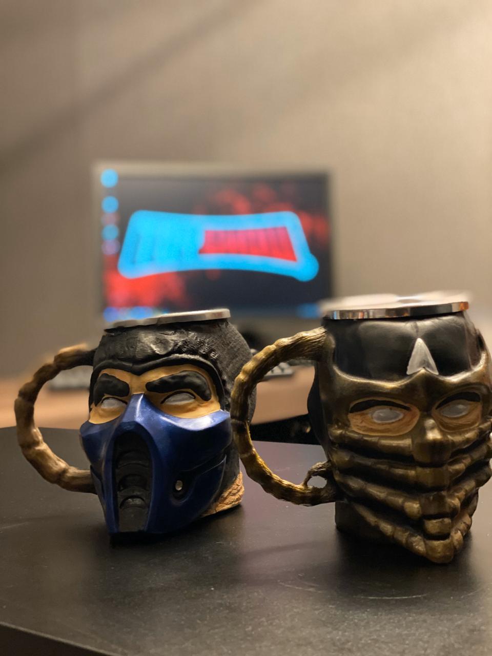 Caneca 3D Scorpion: Mortal Kombat (300ml)