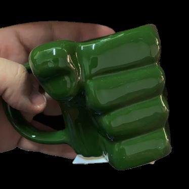 """Caneca 3D """"Soco"""" Verde"""