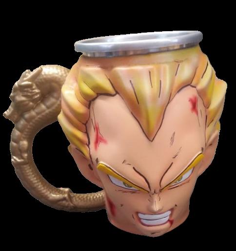 Caneca 3D Vegeta: Dragon Ball Z