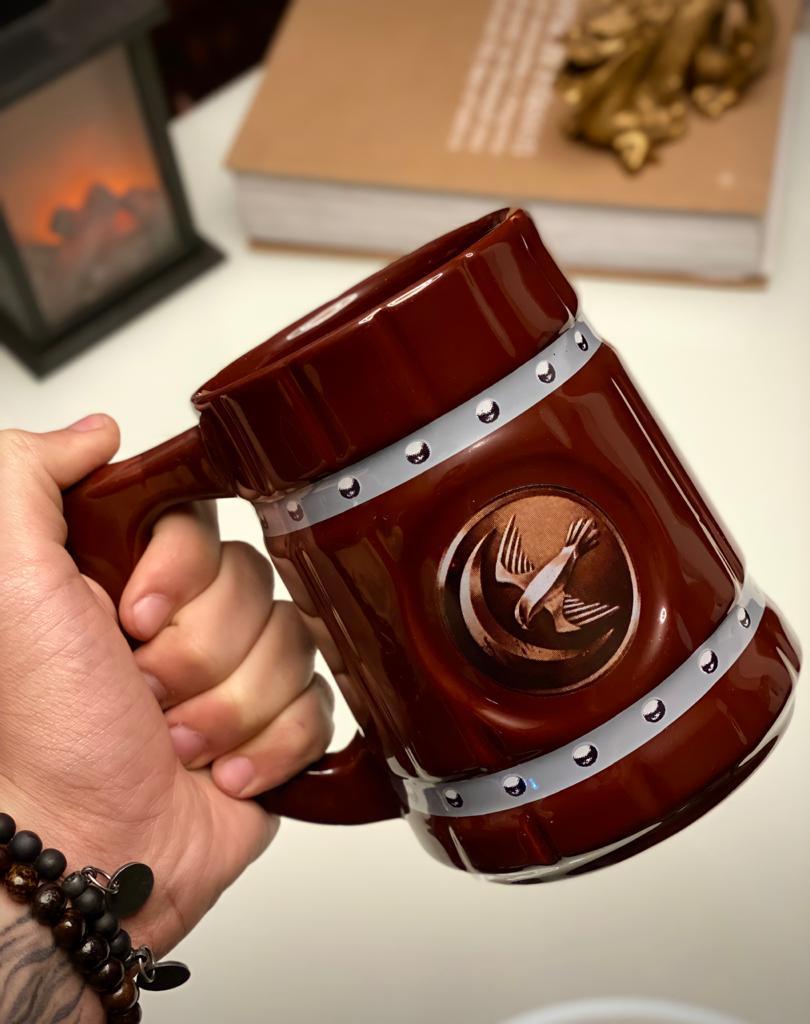 Caneca 3D Viking Cerveja Chopp Casa Arryn: Game of Thrones 700 ML