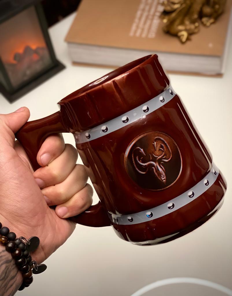 Caneca 3D Viking Cerveja Chopp Casa Grayjoy: Game of Thrones 700 ML
