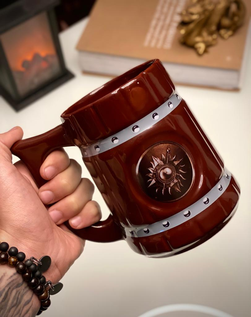 Caneca 3D Viking Cerveja Chopp Casa Martell: Game of Thrones 700 ML