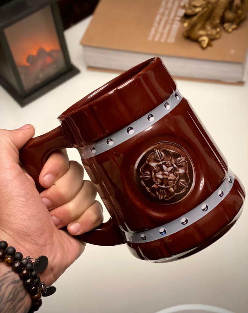 Caneca 3D Viking Cerveja Chopp Casa Tyrell: Game of Thrones 700 ML