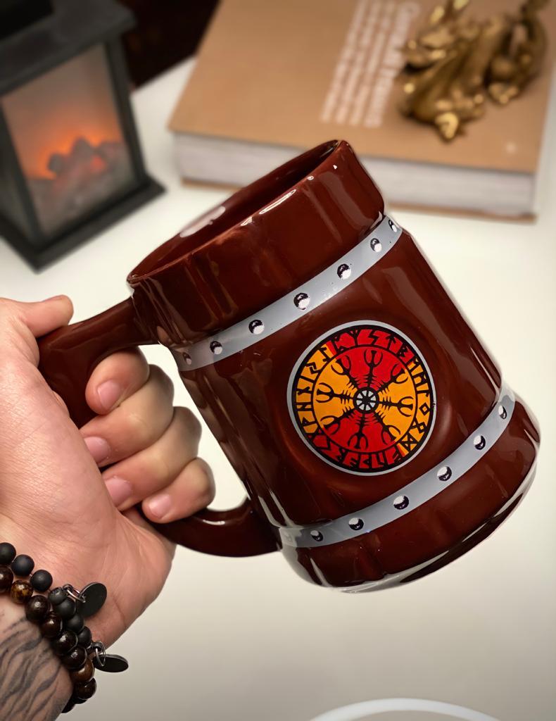 Caneca 3D Viking Cerveja Chopp Ragnar 700 ML