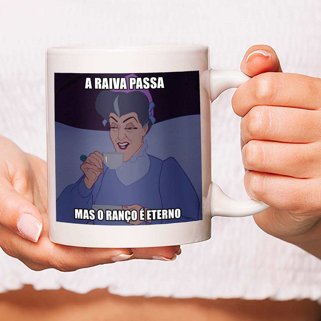 Caneca A Raiva Passa Mas O Ranço É Eterno Meme Disney - 300ml - EV