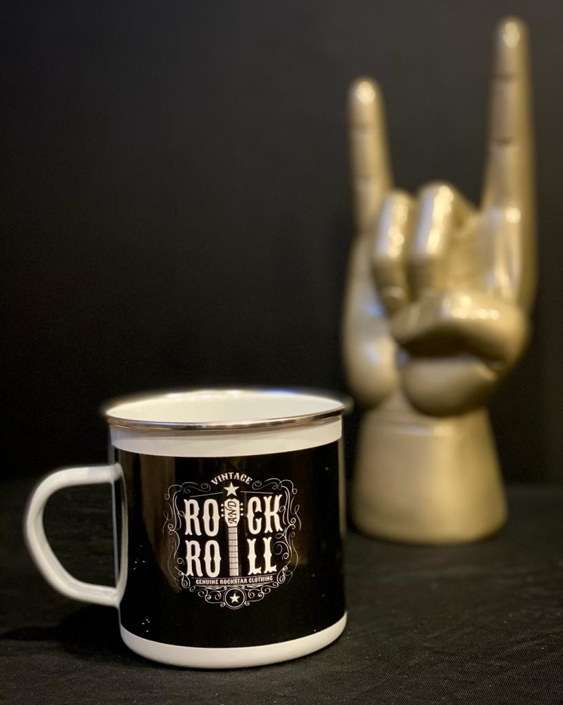 Caneca Ágata: Rock And Roll  - (500ML)