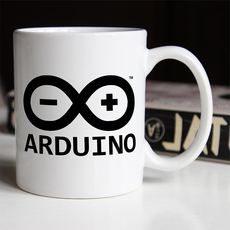 Caneca Arduino -+ Prototipagem Eletrônica Código Aberto 8 bits Plataforma Infinito Hardware (Branca) - EV