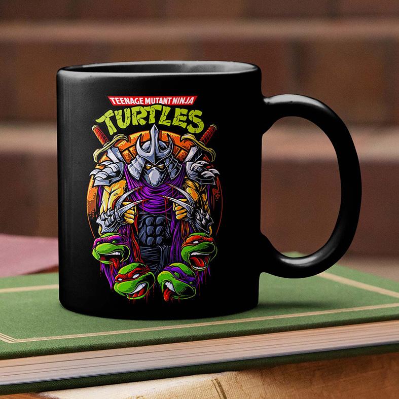 Caneca As Tartarugas Ninjas Destruidor Teenage Mutant Ninja Turtles (Preta) - EV