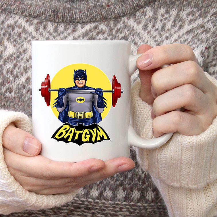 Caneca BatGym: Batman (Branca) - EV