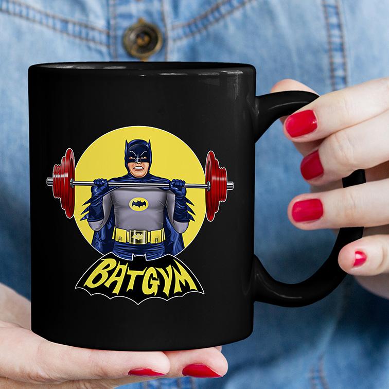 Caneca BatGym: Batman (Preta) - EV
