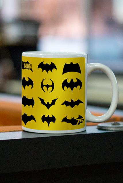 Caneca Batman 75 Anos Logos Collection - EV