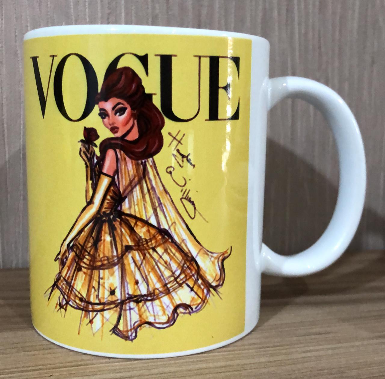 Caneca Bela (Vogue): Princesas Disney