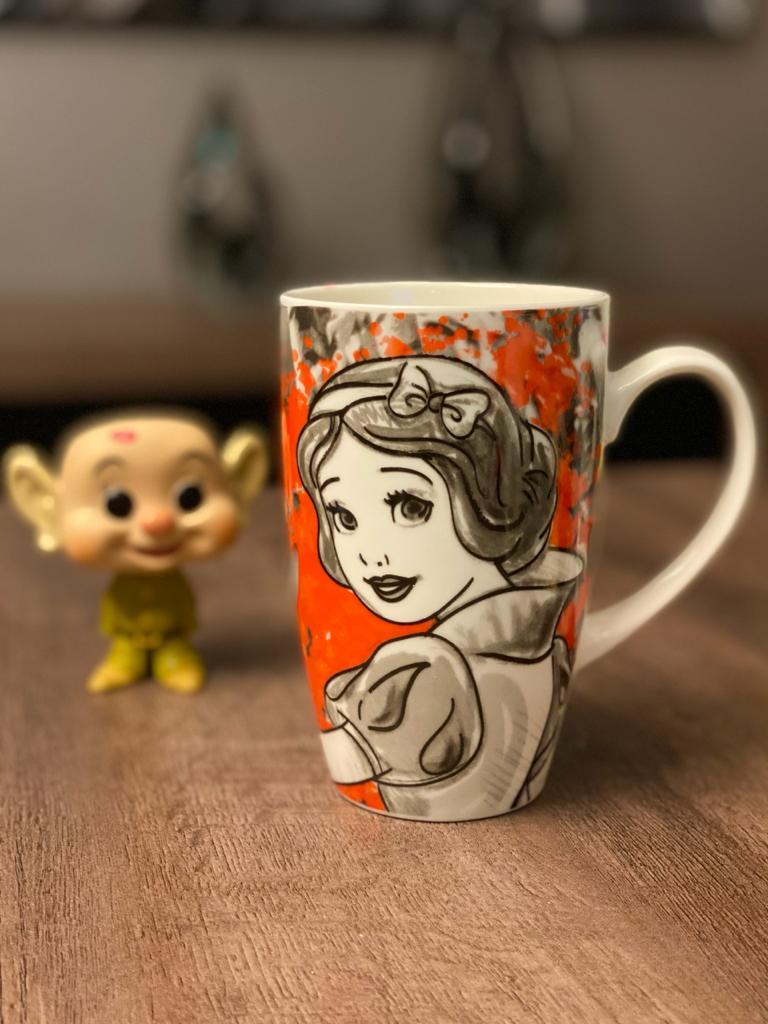 Caneca Branca De Neve Princesas 400ml - Disney
