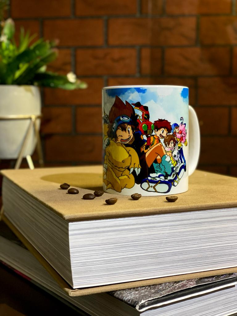 Caneca Branca Digiescolhidos - Digimon