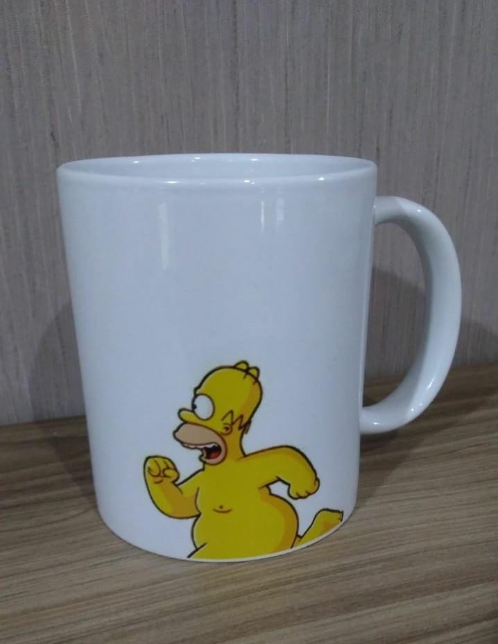 Caneca (Branca) Homer Pelado: Os Simpsons