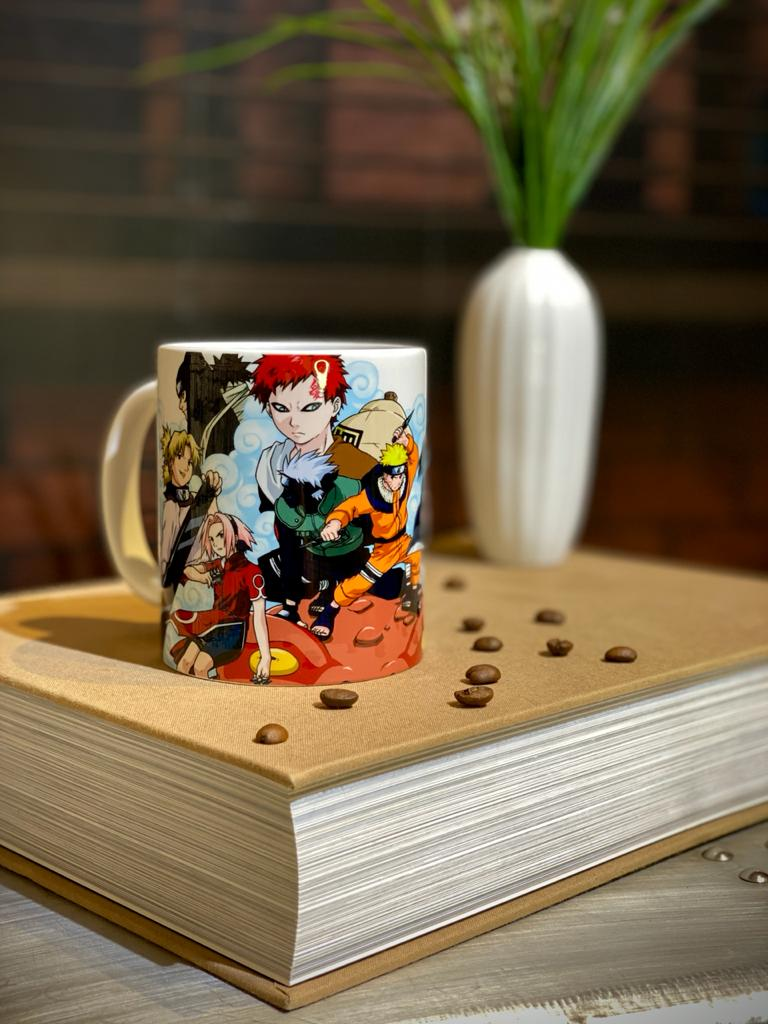 Caneca Branca Personagens: Naruto Classico (Branca)