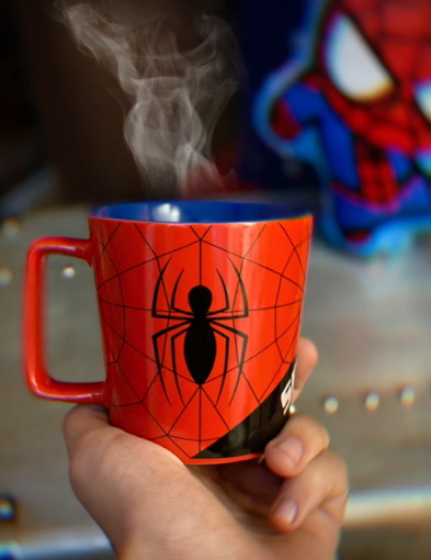 Caneca Buck Homem Aranha Spider-Man Vermelho e Azul - Marvel Comics 400 ml