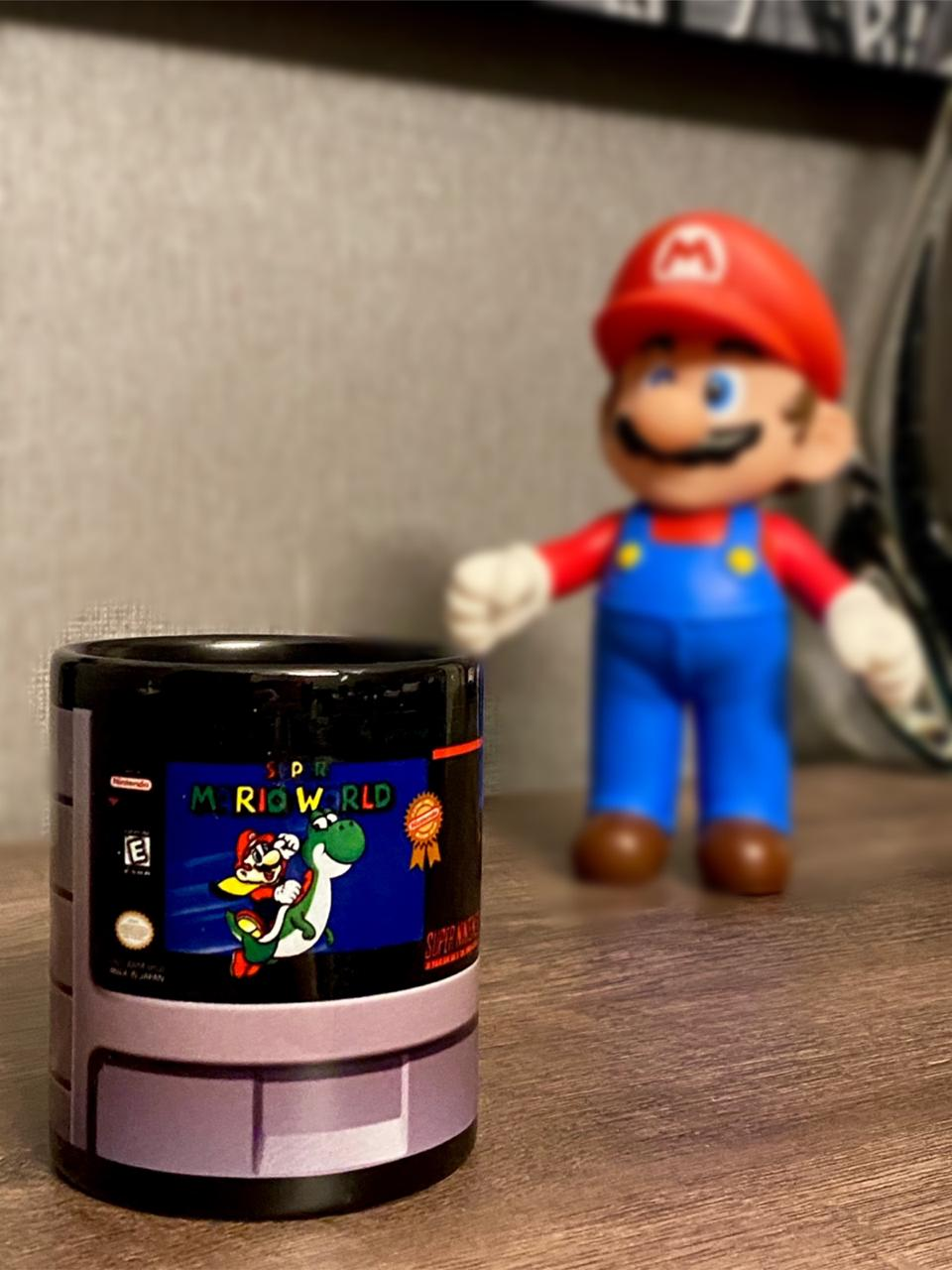 Caneca Cartucho Super Mario World: Super Nintendo