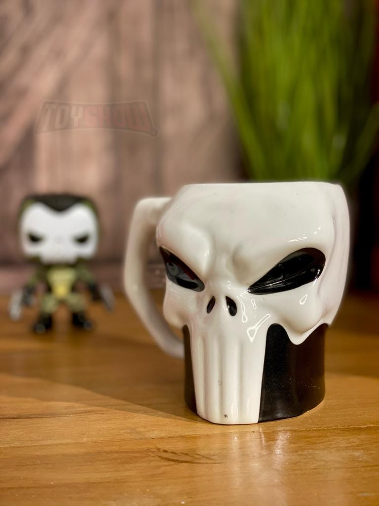 Caneca Caveira 3D Justiceiro (The Punisher): Marvel - (400ML)