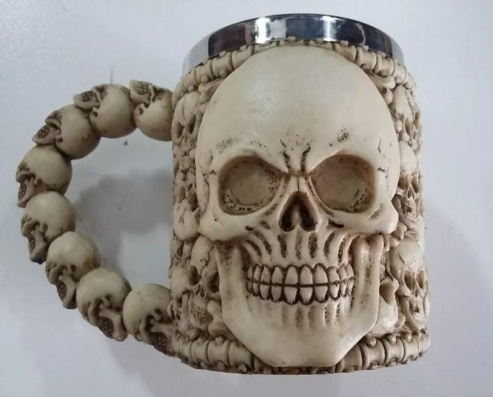 Caneca Caveira Skull Esqueleto