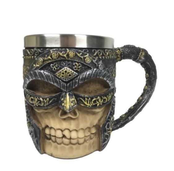 Caneca Caveira Medieval com Máscara